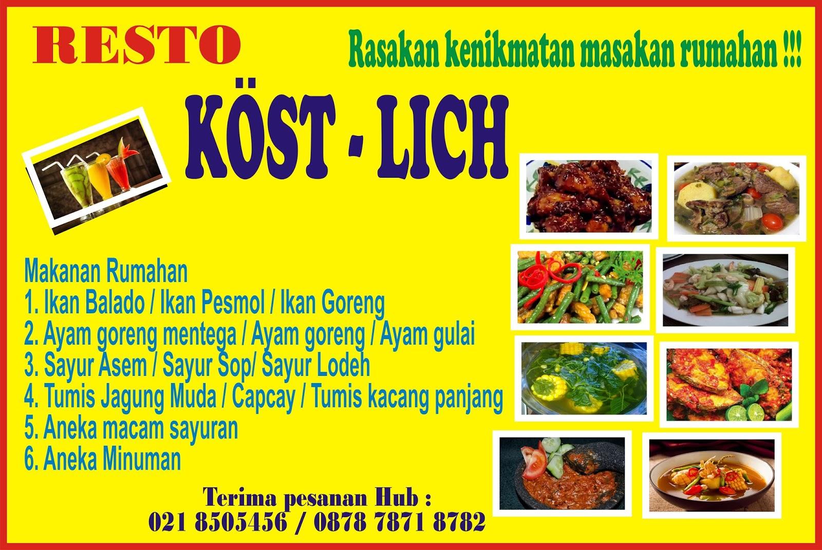 Format Spanduk Makanan - contoh desain spanduk