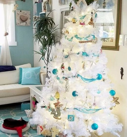 White Coastal Christmas Tree
