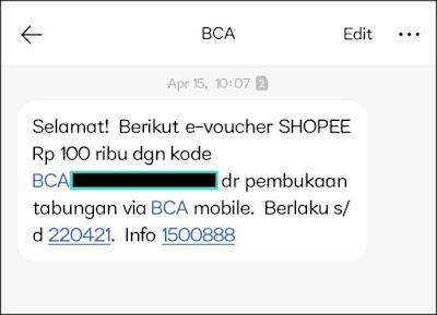 Promo Buka Rekening BCA