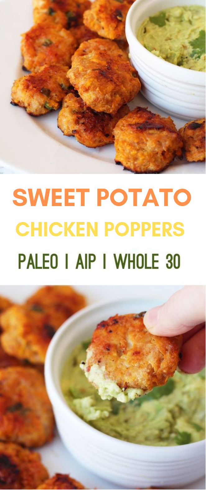Sweet Potato Chicken Poppers #diet #healthyrecipe