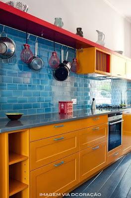 idéias de armário de cozinha amarelo