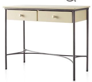 mueble forja, consola forja 2 cajones, consola forja en colores, mueble entrada