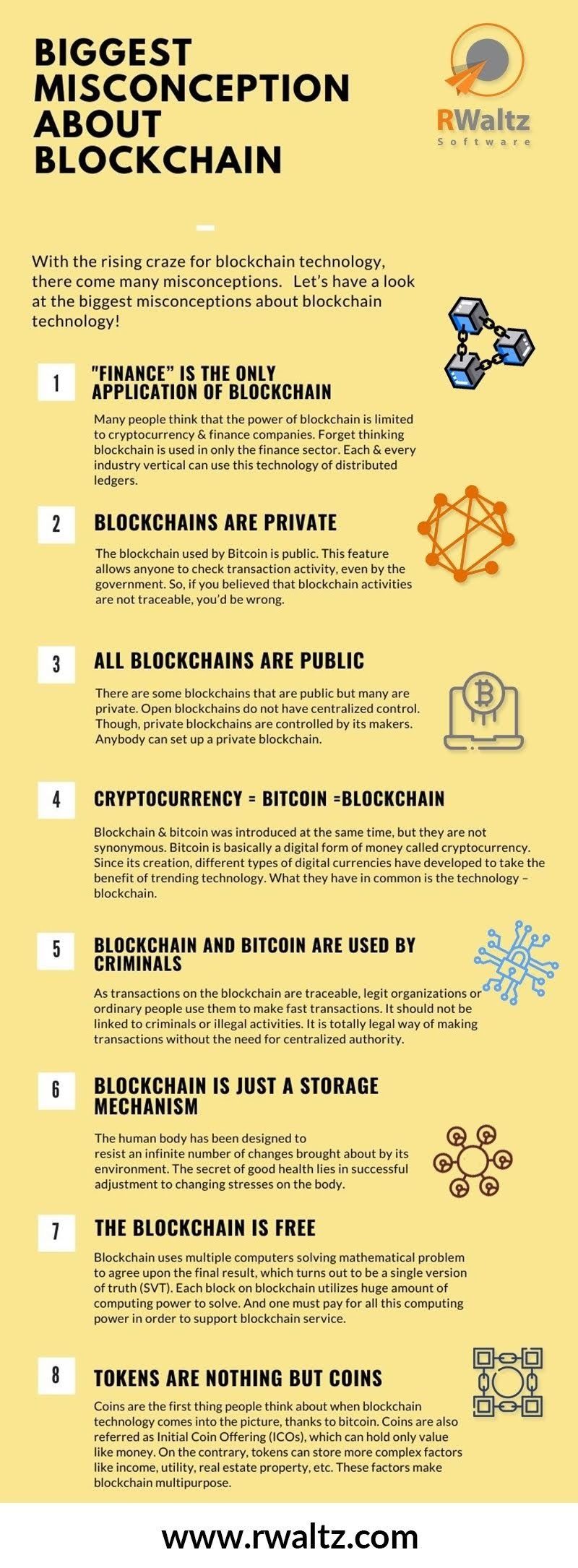 Biggest Misconceptions People Have About Blockchain #infographic
