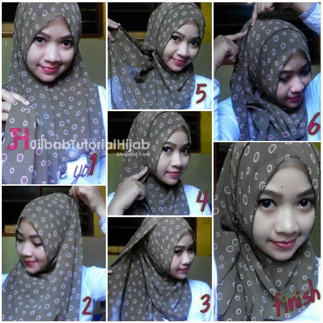 tutorial cara memakai hijab modern bermotif sehari-hari terbaru