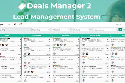 Deals manager 2 CRM