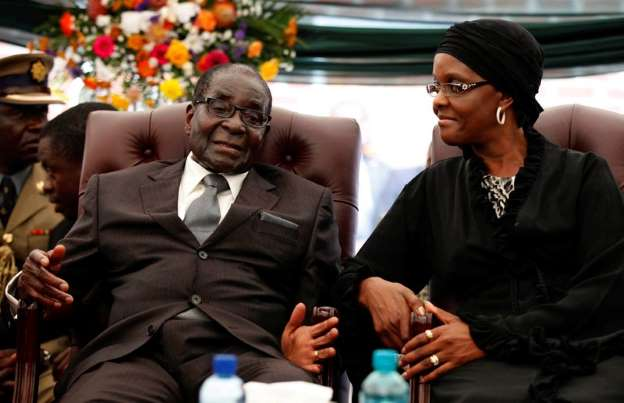 Zimbabwe's Mugabe flies to Singapore, first trip since ouster
