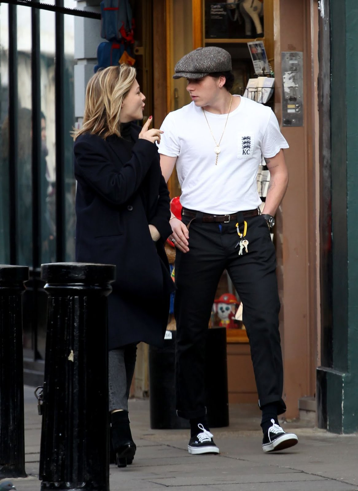 Chloe Moretz enjoying with Brooklyn Beckham Out In Notting Hill