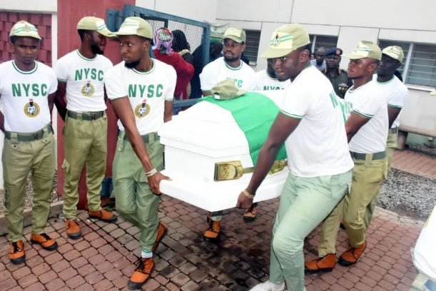 NYSC DG Pays Last Respect As Body Of Channels TV Reporter, Precious Owolabi, Leaves Morgue