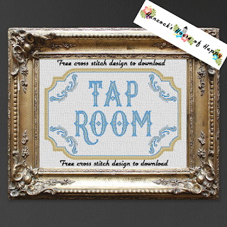 A two-for-one vintage tap room sign in cross stitch