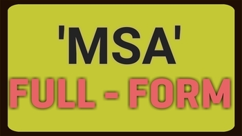 MSA full form