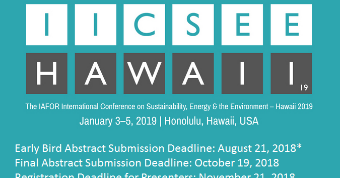 The GREEN MARKET ORACLE: Call for Papers: IAFOR International