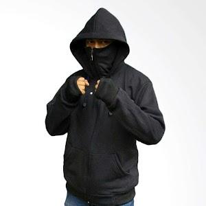YM Ninja Polos Jaket Sweater Pria - Hitam