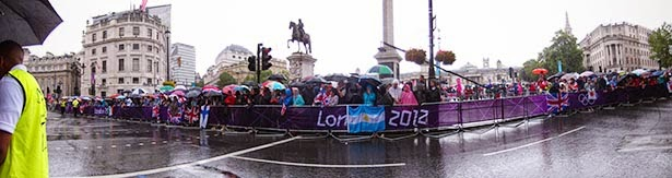 Women's marathon at Trafalgar Square at the London 2012 Olympic Games