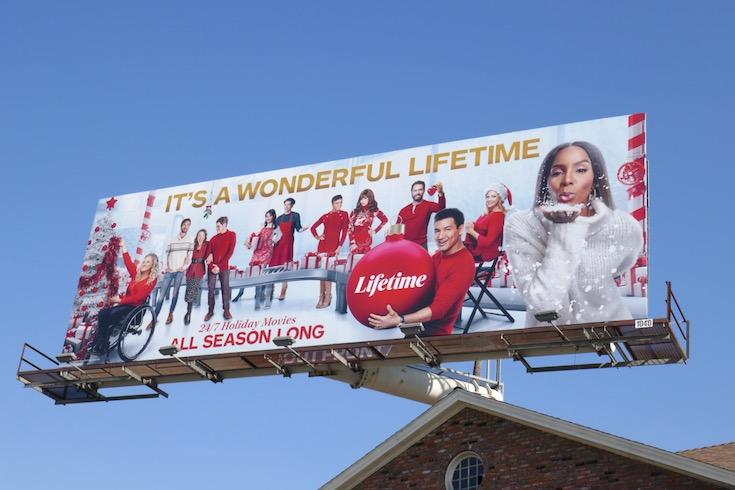 Its a Wonderful Lifetime 247 Holiday Movies billboard