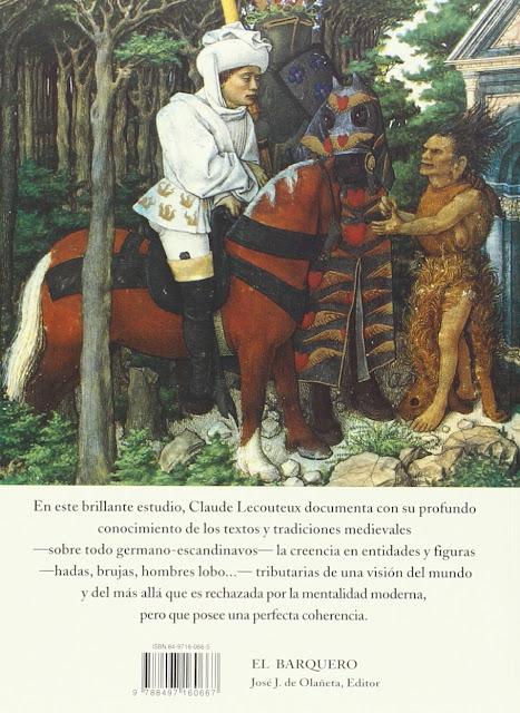 Hadas, Brujas y Hombres Lobos en la Edad Media de Claude Lecouteux contratapa