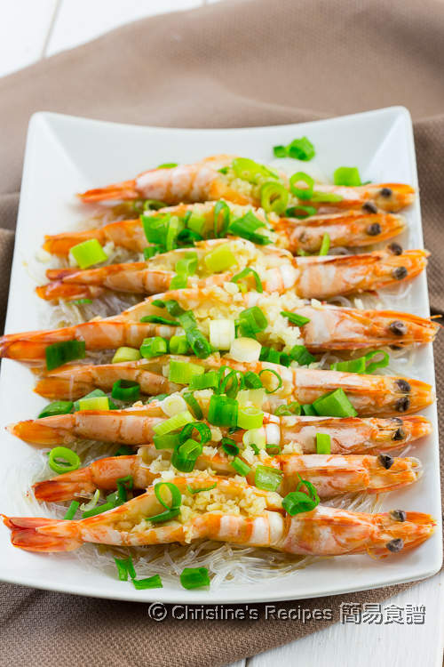 蒜蓉粉絲蒸蝦 Steamed Garlic Prawns with Vermicelli Noodles02