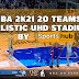 NBA 2K21 20 TEAMS UHD REALISTIC STADIUM BY SPORTSHUB