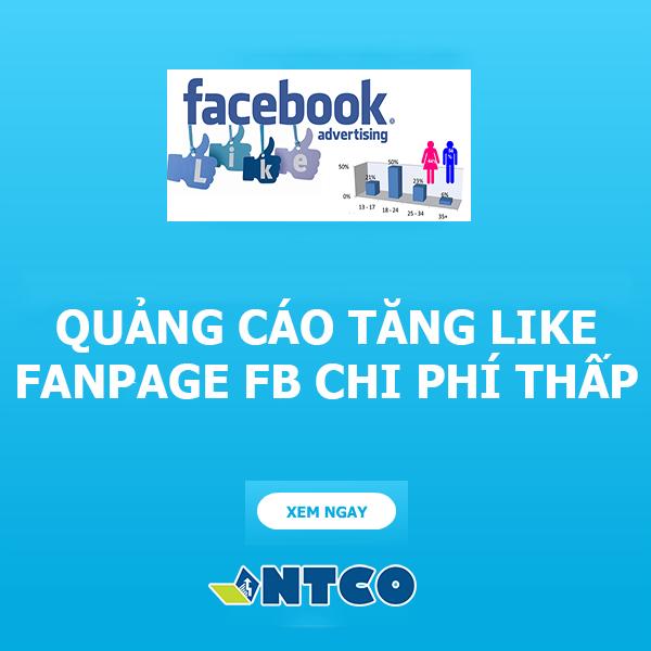 quang cao tang like fanpage