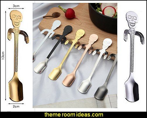 Stainless Steel Skull Spoons  kitchen accessories - fun kitchen decor - decorative themed kitchen  - novelty mugs - kitchen wall decals - kitchen wall quotes - cool stuff to buy - kitchen cupboard contact paper -  kitchen storage ideas - unique kitchen gadgets - food pillows - kitchen accessories - fun kitchen decor - decorative themed kitchen  - novelty mugs - kitchen wall decals - kitchen wall quotes - cool stuff to buy - kitchen cupboard contact paper -  kitchen storage ideas - unique kitchen gadgets - food pillows