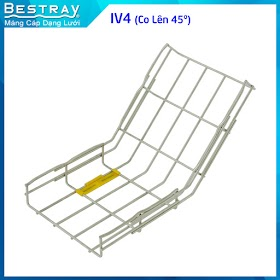 Bestray | Máng Cáp Dạng Lưới | Co, Tê | Co Lên 45 Độ (IV4)