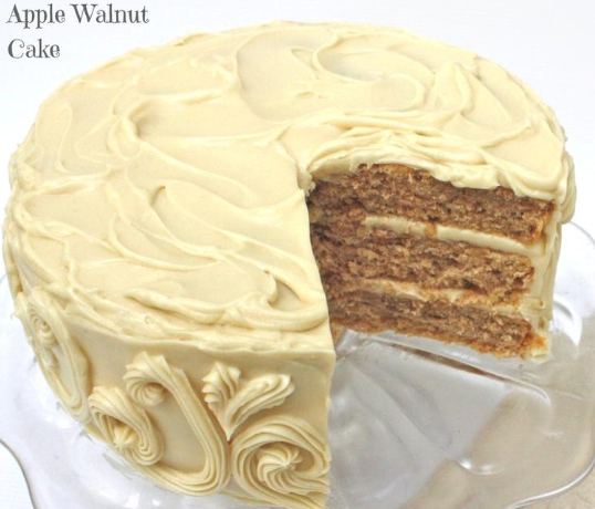 Apple Walnut Cake With Maple Cream Cheese