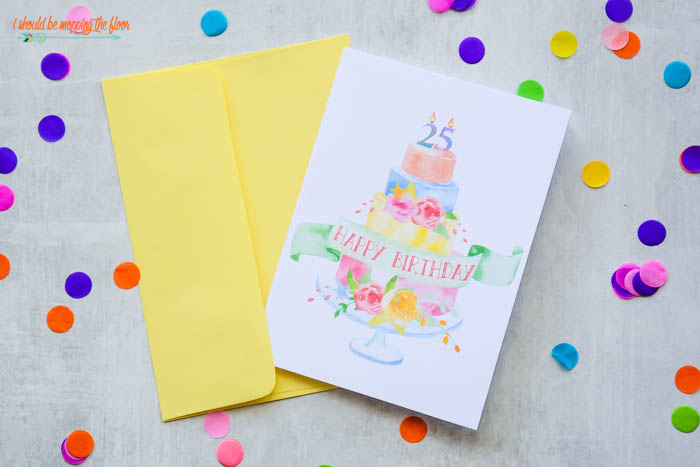 I Should Be Mopping The Floor Free Printable Birthday Cards