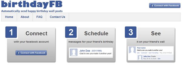 How To Auto Post Happy Birthday Wishes On Facebook Friends Wall
