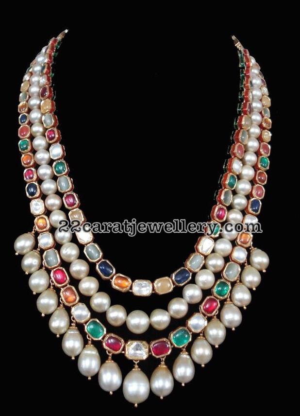 Navaratan Stone Mango Necklace