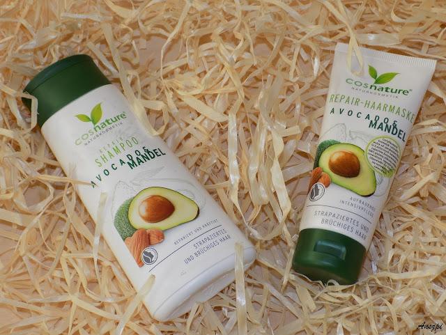 Regeneracja włosów z szamponem i maską z awocado i migdałami, Cosnature
