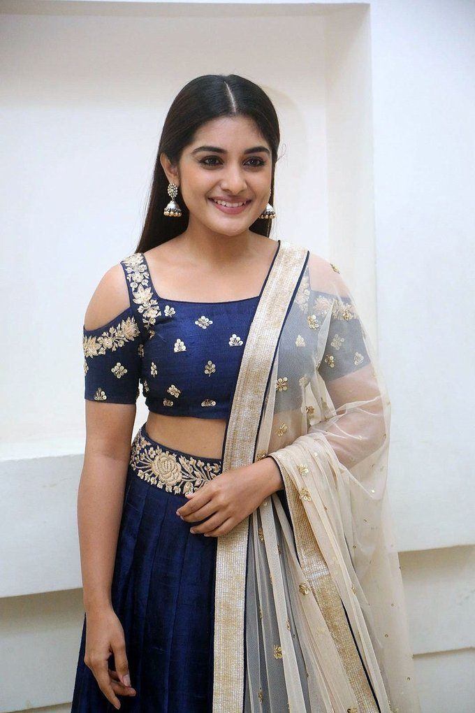 Actress Niveda Thomas at Jai Lava Kusa Theatrical Trailer Launch Photos