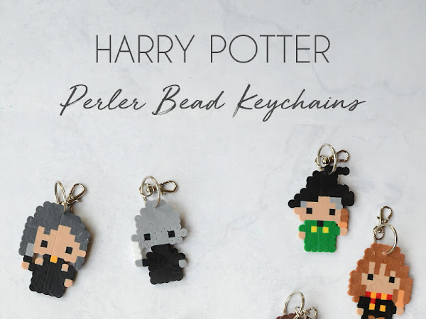 Harry Potter Perler Bead Patterns and Keychains- Book Review