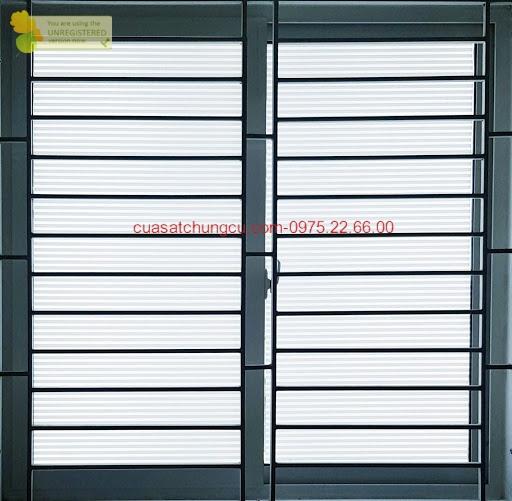 Khung sắt cửa sổ dành cho cửa nhôm trượt 2 cánh