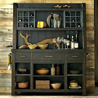 Black farmhouse dining room hutch idea
