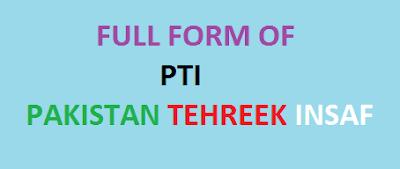 full form of pti