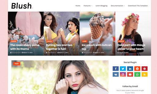Blush Blogger Template