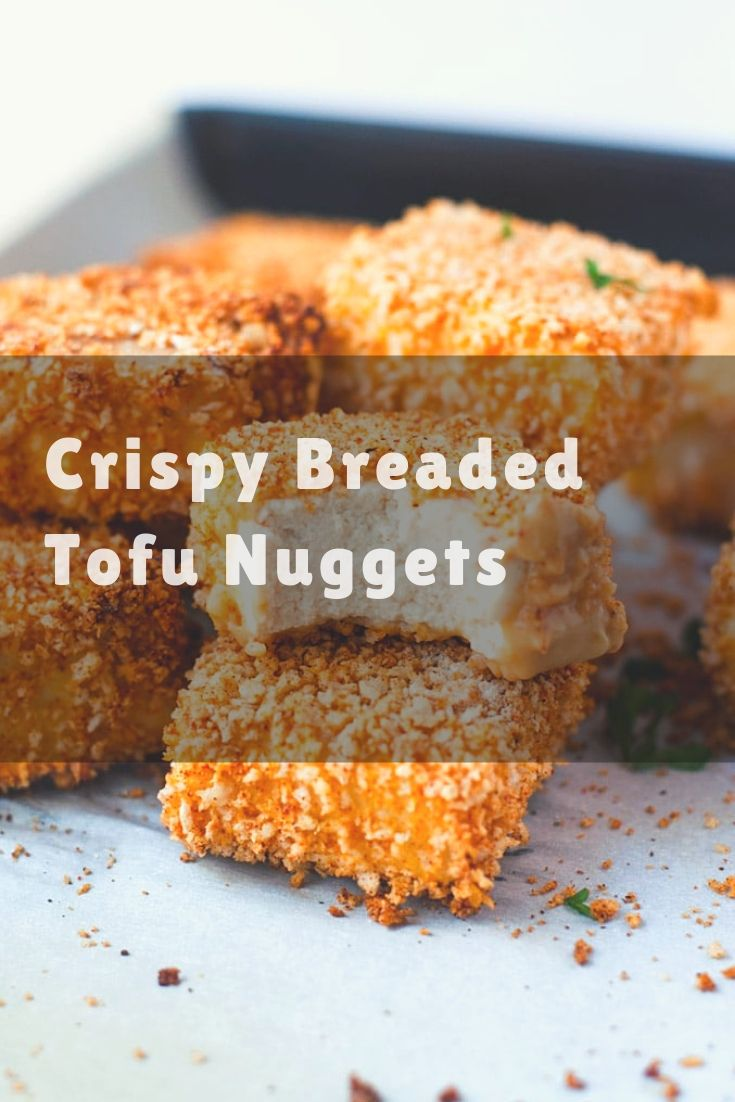 Crispy Breaded Tofu Nuggets - These bite sized tofu nuggets made with panko bread crumbs. They're perfect with dinner or as an appetizer!