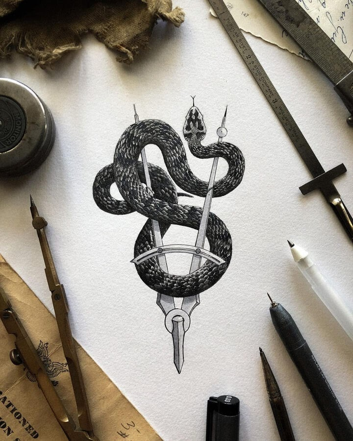 06-The-snake-on-the-compass-Nicholas-Baker-www-designstack-co