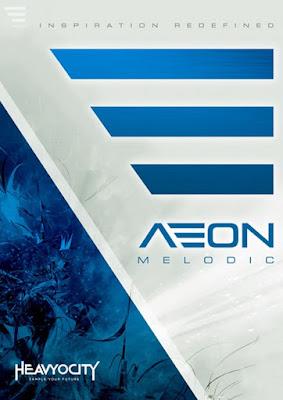 Cover da Kontakt library AEON Melodic - Heavyocity