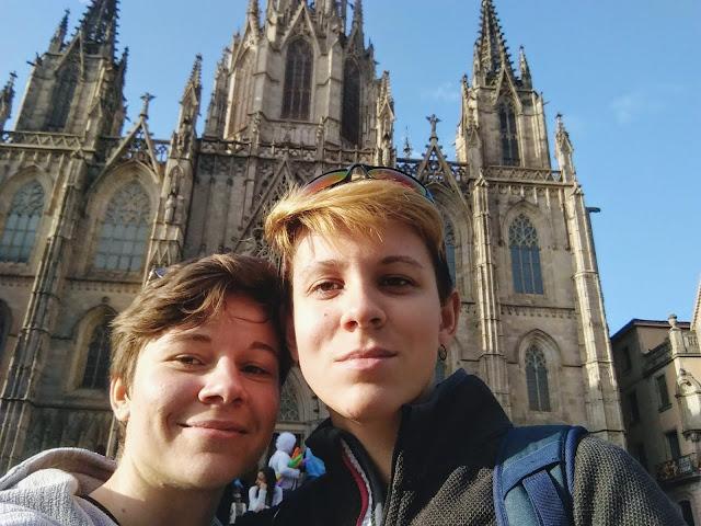 Selfie na tle Katedry św. Eulalii