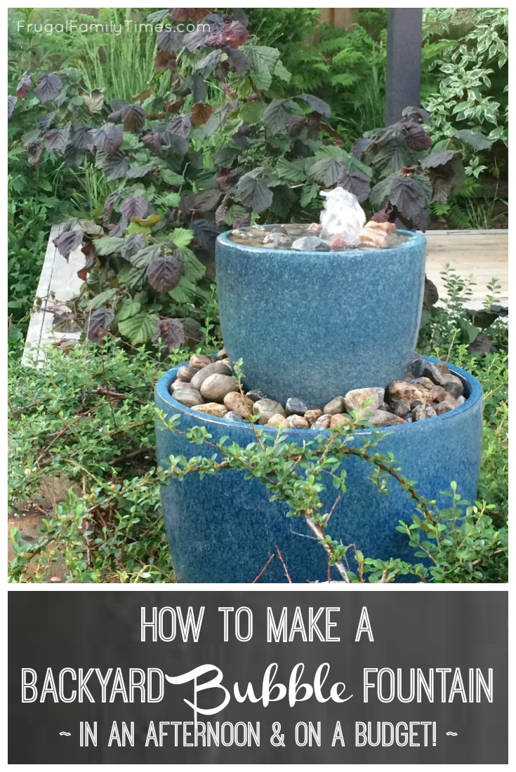 How To Make A Diy Bubble Fountain Garden Water Feature In An