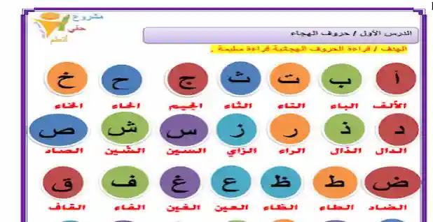 مذكرة تأسيس لغة عربية رياض اطفال قراءة وكتابة واملاء