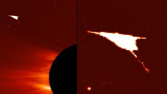 """OVNI """"angelical"""" avistado en las cercanías de nuestro Sol"""