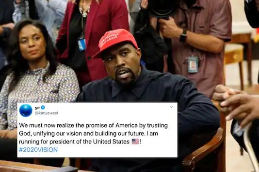 Kanye West : President of United States : केनी वेस्ट ने कहा कि वह अमेरिकी राष्ट्रपति 2020 के लिए दौड़ कर रहे हैं