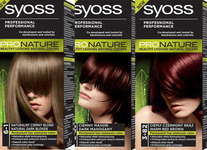 Sia S Obsessions Syoss Pronature Nowe Nie Naturalne Farby