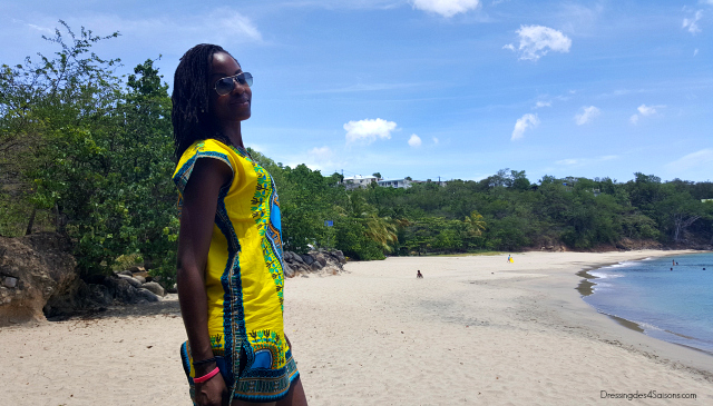 Dressing-des-4-Saisons-Dashiki-t-shirt-lookbook-rocher-plage-leroux-guadeloupe-microlocks-natural-hair