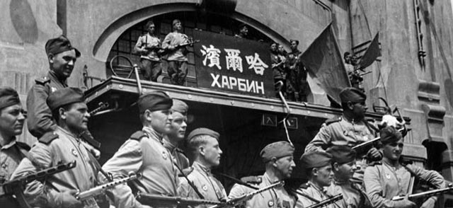 Soviet ground troops in Harbin, China worldwartwo.filminspector.com