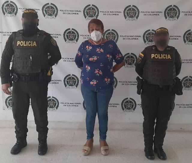 Mujer capturada en Riohacha tenía casa por cárcel en Dibulla