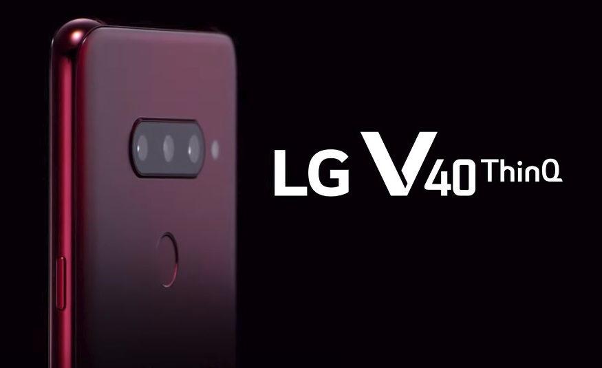 LG V40 ThinQ  cuenta con cinco cámaras