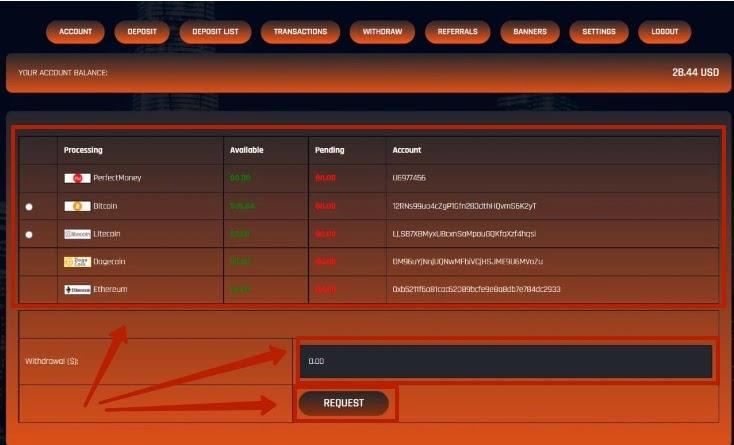 Вывод средств в Bitxtra 2