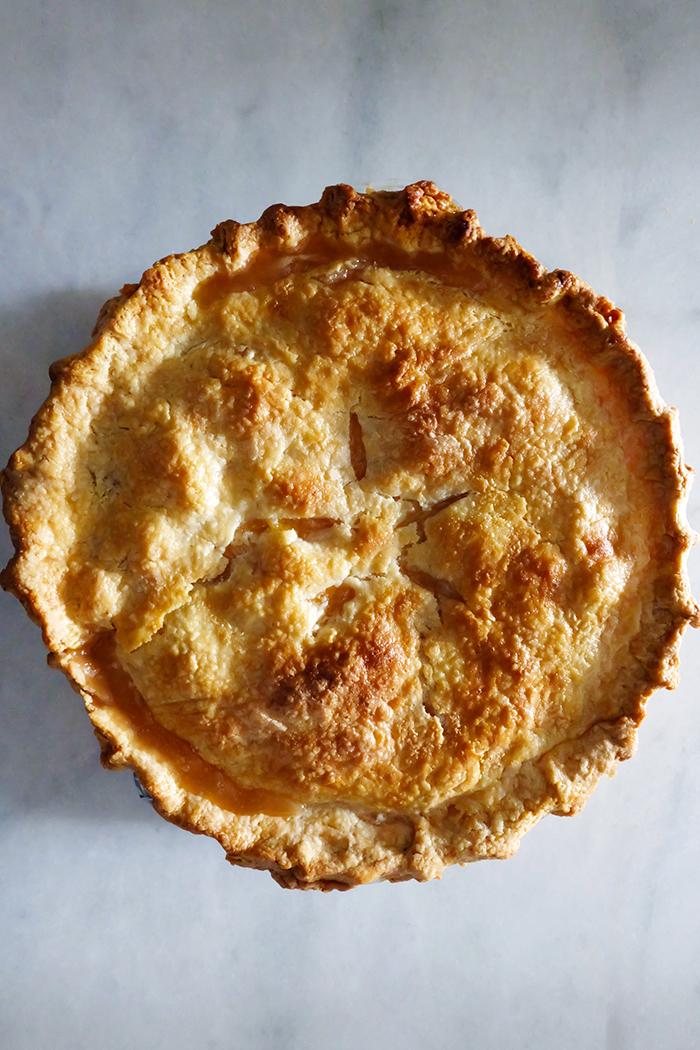 baked peach pie